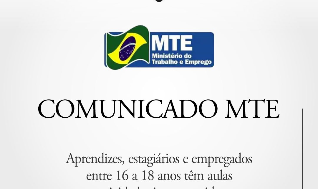 Comunicado MTE