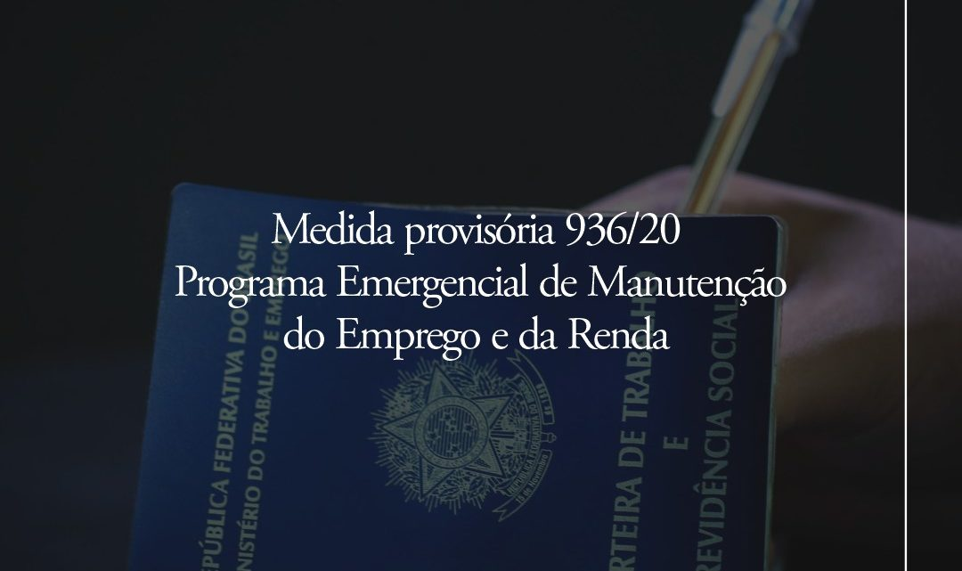 Medida provisória 936/20
