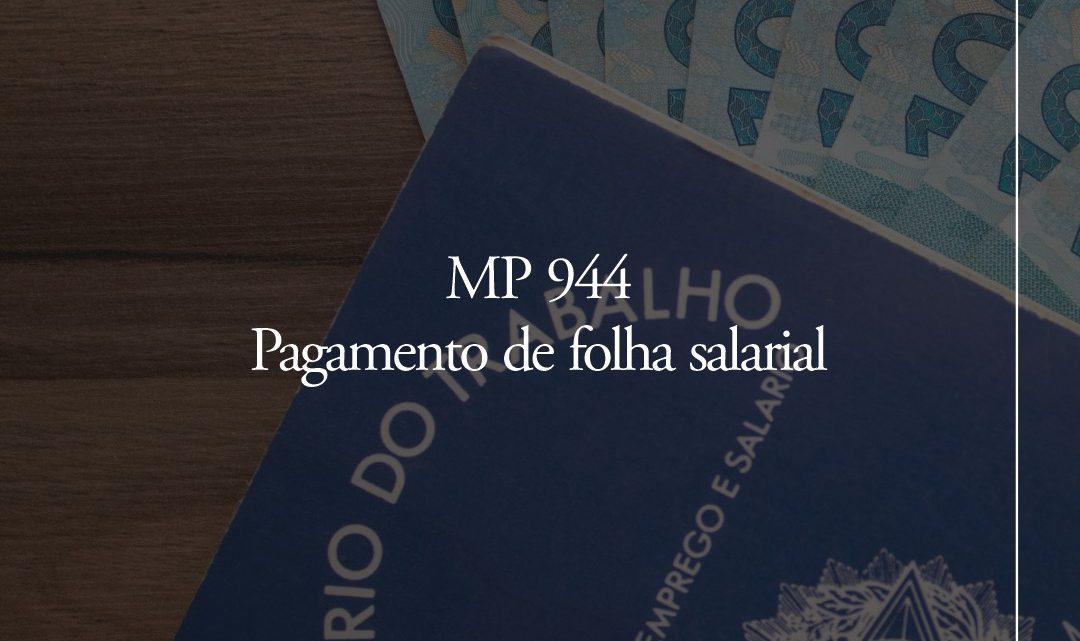 MP 944 – Pagamento de folha salarial