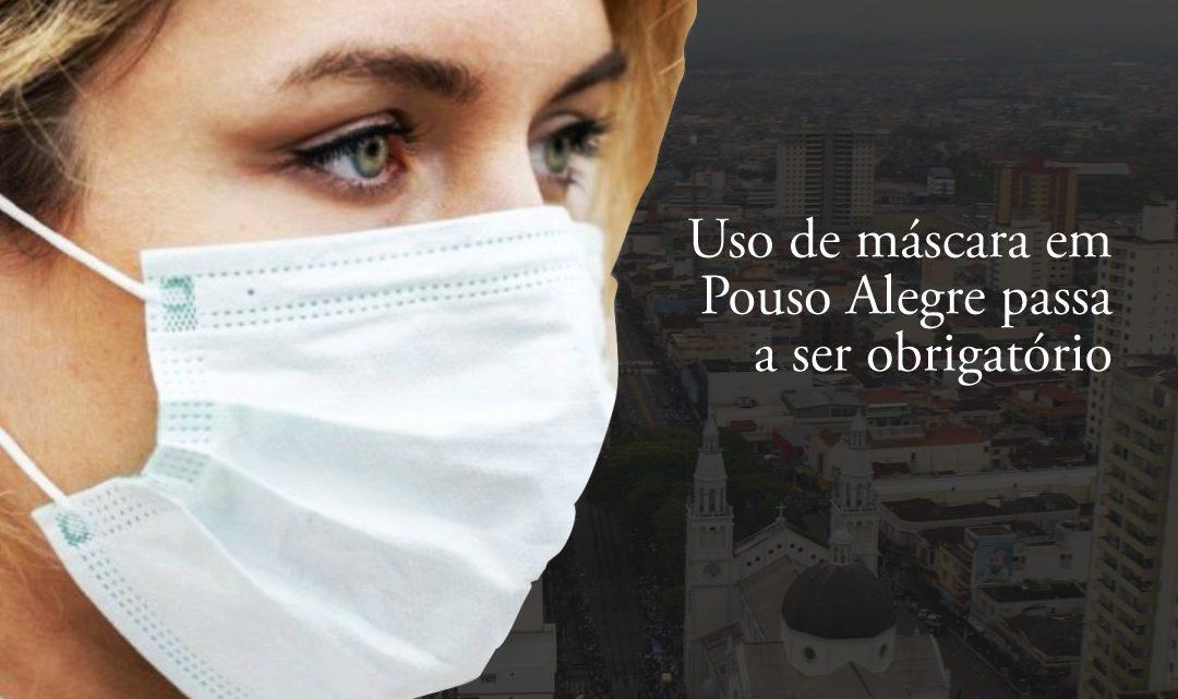 Uso de máscara em Pouso Alegre passa a ser obrigatório