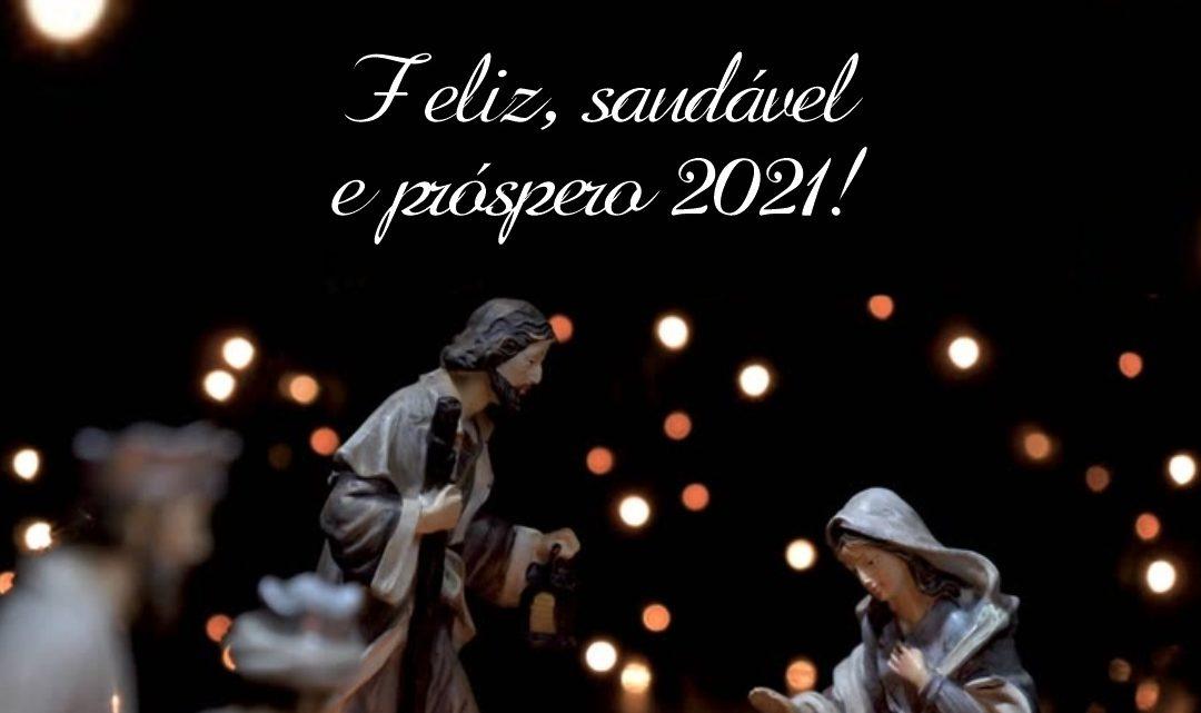 Feliz e Santo Natal! Feliz, saudável e próspero 2021!